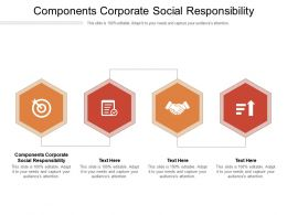 Components Corporate Social Responsibility Ppt Powerpoint Presentation Slides Cpb
