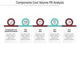 Components Cost Volume Pr Analysis Ppt Powerpoint Presentation Icon Themes Cpb