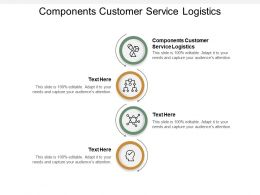 Components Customer Service Logistics Ppt Powerpoint Presentation Layouts Examples Cpb
