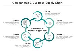 Components E Business Supply Chain Ppt Powerpoint Presentation Ideas Cpb