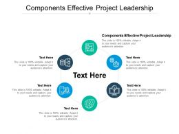 Components Effective Project Leadership Ppt Powerpoint Portfolio Cpb