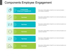 Components Employee Engagement Ppt Powerpoint Presentation Professional Example Topics Cpb