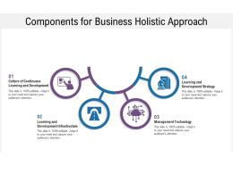 Components For Business Holistic Approach