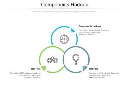 Components Hadoop Ppt Powerpoint Presentation Pictures Shapes Cpb