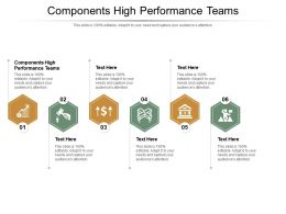 Components High Performance Teams Ppt Powerpoint Presentation Infographic Template Slideshow Cpb