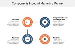 Components Inbound Marketing Funnel Ppt Powerpoint Presentation File Cpb