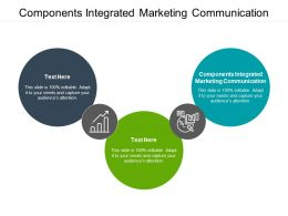 Components Integrated Marketing Communication Ppt Powerpoint Presentation Show Mockup Cpb