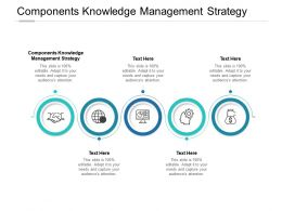 Components Knowledge Management Strategy Ppt Powerpoint Presentation Show Cpb