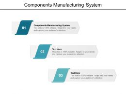 Components Manufacturing System Ppt Powerpoint Presentation Portfolio Display Cpb