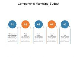 Components Marketing Budget Ppt Powerpoint Presentation Portfolio Guidelines Cpb