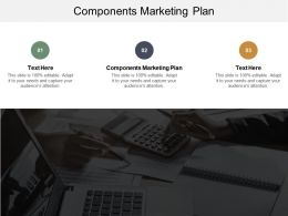 Components Marketing Plan Ppt Powerpoint Presentation Ideas Clipart Images Cpb