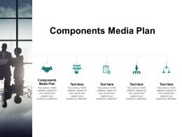 Components Media Plan Ppt Powerpoint Presentation Inspiration Cpb