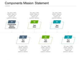 Components Mission Statement Ppt Powerpoint Presentation Infographic Cpb