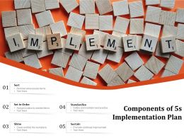 Components Of 5s Implementation Plan