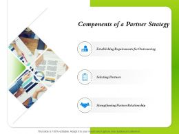 Components Of A Partner Strategy Requirements For Outsourcing Ppt Presentation Deck