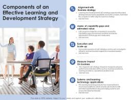 Components Of An Effective Learning And Development Strategy