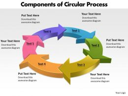 Components of Circular Process powerpoint Slides templates
