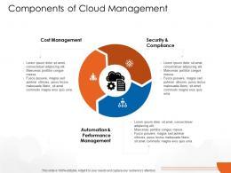 Components Of Cloud Management Cloud Computing Ppt Formats