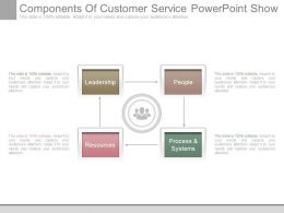 Components Of Customer Service Powerpoint Show