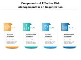 Components Of Effective Risk Management For An Organization