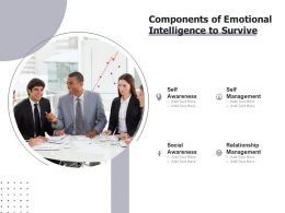 Components Of Emotional Intelligence To Survive