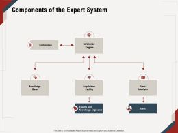 Components Of The Expert System Engineers User Ppt Powerpoint Presentation File Picture