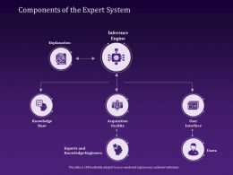 Components Of The Expert System Knowledge Ppt Powerpoint Presentation Icon