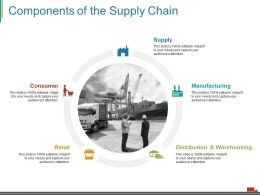 Components Of The Supply Chain Ppt Layout
