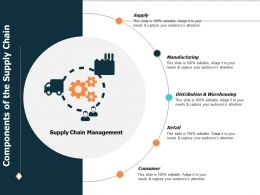 Components Of The Supply Chain Ppt Powerpoint Presentation File Sample
