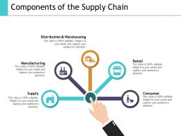 Components Of The Supply Chain Ppt Show Graphics Pictures