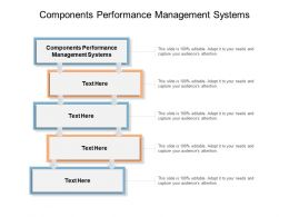 Components Performance Management Systems Ppt Powerpoint Presentation Styles Cpb