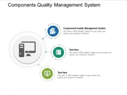 Components Quality Management System Ppt Powerpoint Presentation Icon Aids Cpb