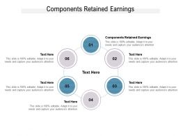 Components Retained Earnings Ppt Powerpoint Presentation Show Example Cpb