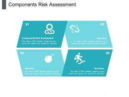 Components Risk Assessment Ppt Powerpoint Presentation Layouts Introduction Cpb