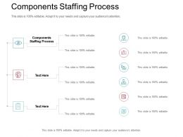 Components Staffing Process Ppt Powerpoint Presentation Professional Show Cpb