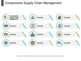 Components Supply Chain Management Ppt Powerpoint Presentation Outline Format Cpb