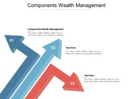 Components Wealth Management Ppt Powerpoint Presentation Portfolio Cpb