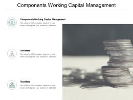 Components Working Capital Management Ppt Powerpoint Presentation Ideas Summary Cpb
