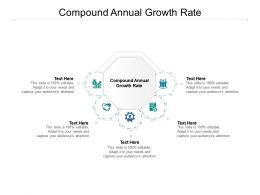 Compound Annual Growth Rate Ppt Powerpoint Presentation Diagram Templates Cpb
