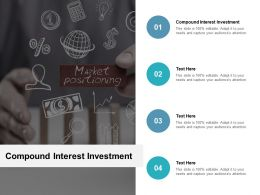 Compound Interest Investment Ppt Powerpoint Presentation Show Topics Cpb