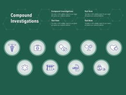 Compound Investigations Ppt Powerpoint Presentation Layouts Samples
