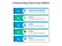 Compounding Discounting Method Ppt Powerpoint Presentation Slides Objects Cpb