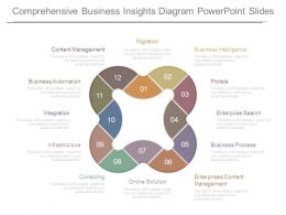 Comprehensive Business Insights Diagram Powerpoint Slides
