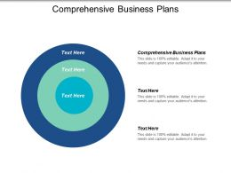 Comprehensive Business Plans Ppt Powerpoint Presentation Ideas Diagrams Cpb