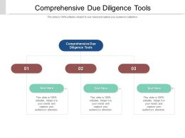 Comprehensive Due Diligence Tools Ppt Powerpoint Presentation Summary Maker Cpb