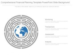 Comprehensive Financial Planning Template Powerpoint Slide Background