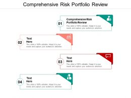 Comprehensive Risk Portfolio Review Ppt Powerpoint Presentation Gallery Styles Cpb