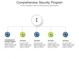 Comprehensive Security Program Ppt Powerpoint Presentation Summary Display Cpb