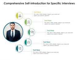 Comprehensive Self Introduction For Specific Interviews Infographic Template