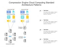 Compression Engine Cloud Computing Standard Architecture Patterns Ppt Presentation Diagram